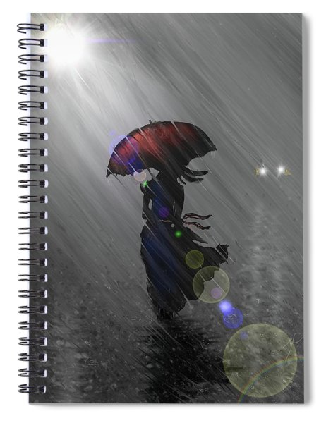Rainy Walk Spiral Notebook