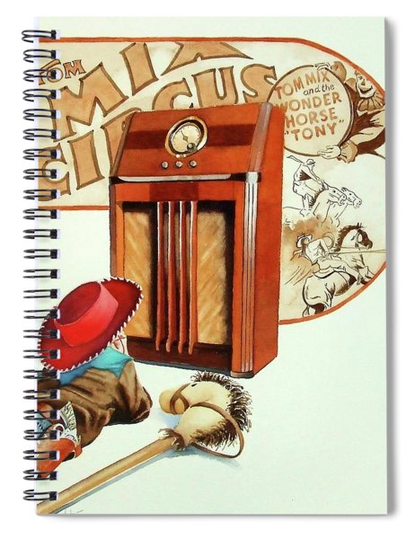 Raised On The Radio 2 Spiral Notebook
