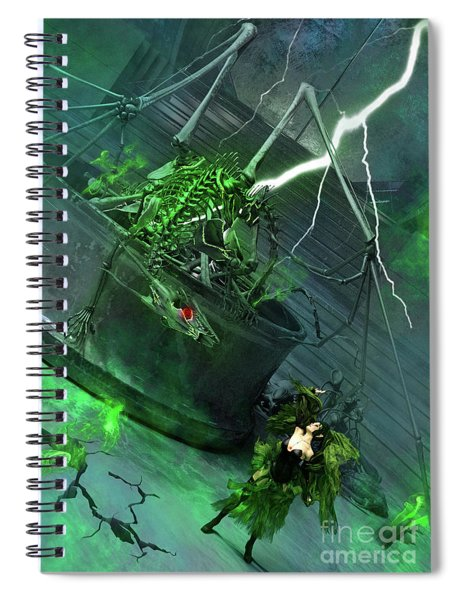 Raising The Dragon Spiral Notebook