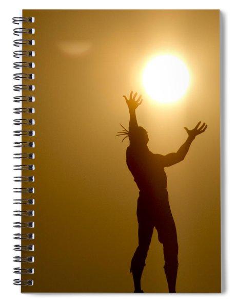 Raising The Sun Spiral Notebook