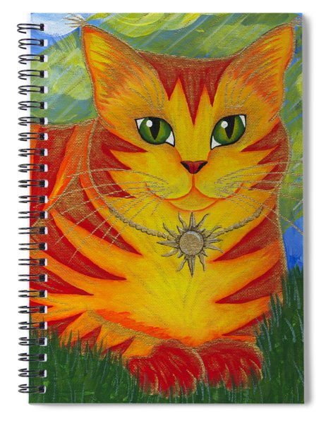 Rajah Golden Sun Cat Spiral Notebook