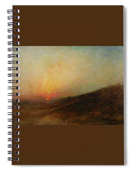 Ralph Albert Blakelock  1847  1919  Indian Encampment At Sunset Spiral Notebook