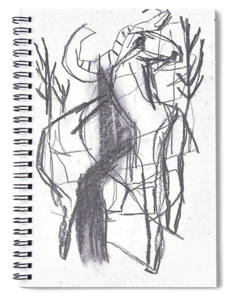 Ram In A Forest Spiral Notebook