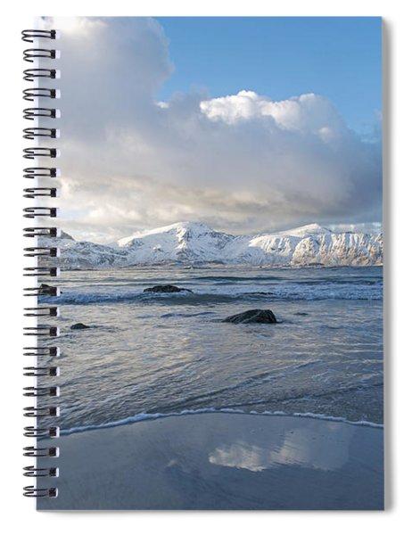 Ramberg Beach, Lofoten Nordland Spiral Notebook