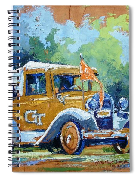 Ga Tech Ramblin' Wreck - Part Of College Series Spiral Notebook