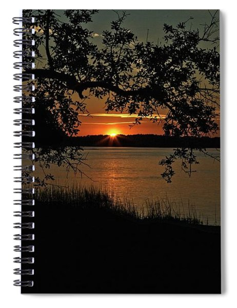 Roanoke Island Sunset Spiral Notebook