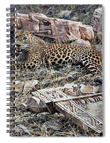 Spiral Notebook featuring the painting Ranthambore Apparition by Alan M Hunt