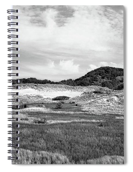 Rare Ecosystem Black And White Spiral Notebook