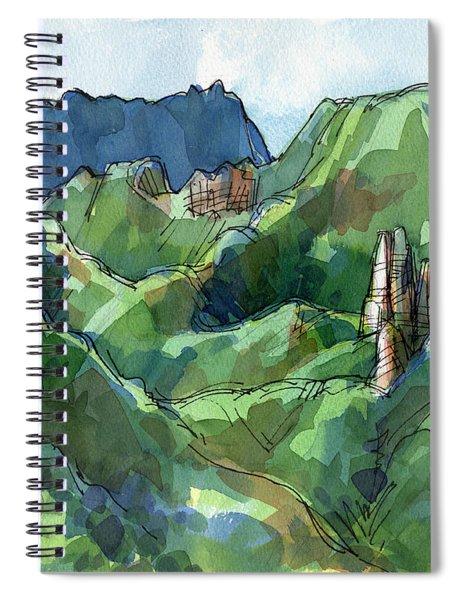 Rarotonga, Raemaru Mountain View Spiral Notebook