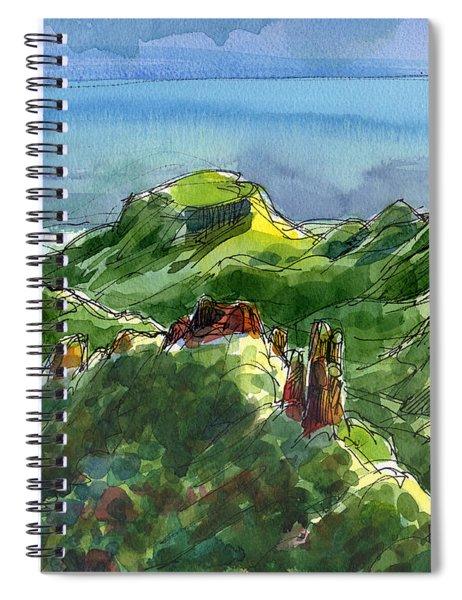 Rarotonga, Te Kou Mountain View Spiral Notebook