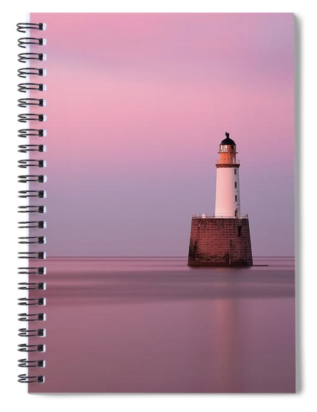 Rattray Head Lighthouse At Sunset - Pink Sunset Spiral Notebook