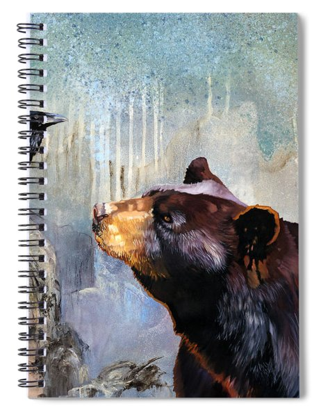 Raven And The Bear Spiral Notebook