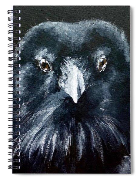 Raven Fluff Spiral Notebook