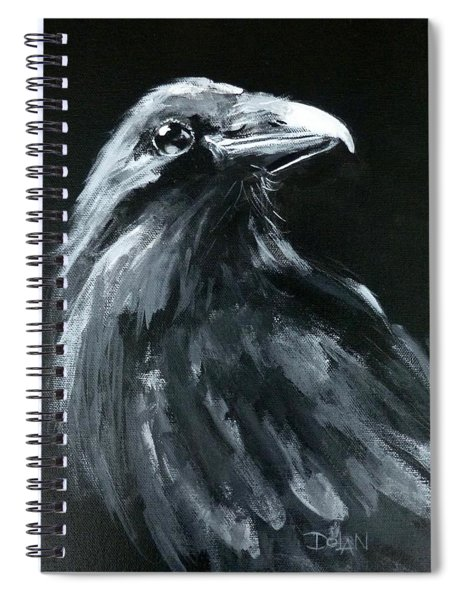 Raven Looking Right Spiral Notebook