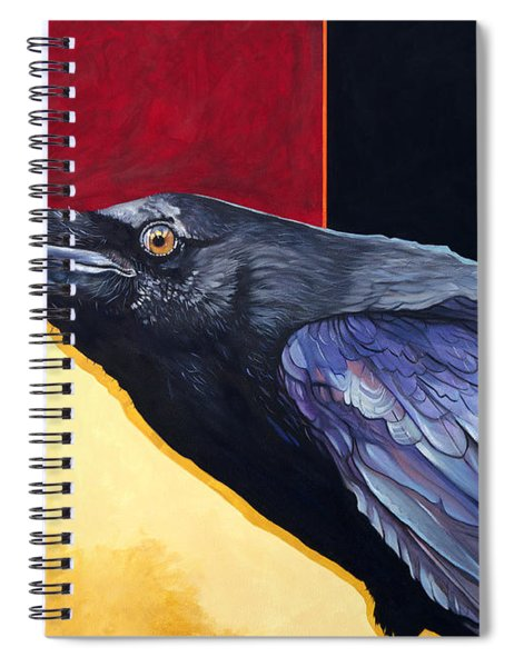 Raven Of The Tomorrow Wings Spiral Notebook