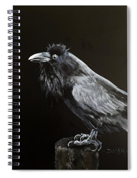 Raven On Post Spiral Notebook
