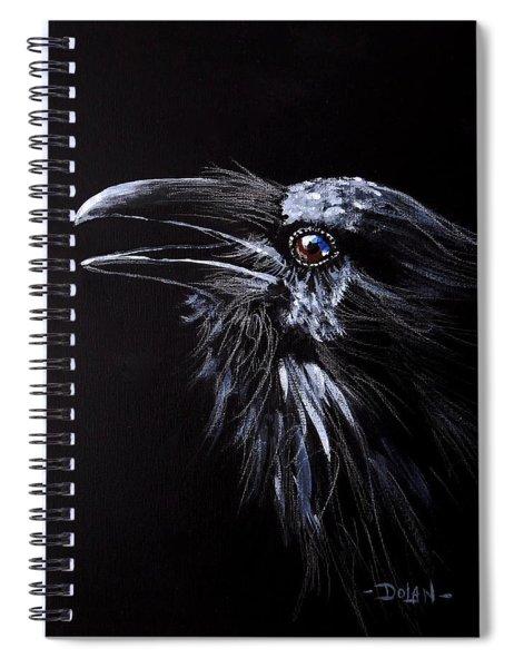 Raven Portrait Spiral Notebook