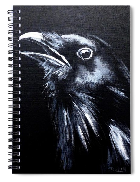 Raven Warning Spiral Notebook