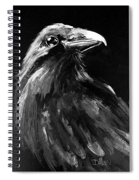 Raven Watching Spiral Notebook