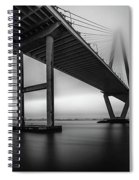 Ravenel Bridge November Fog Spiral Notebook