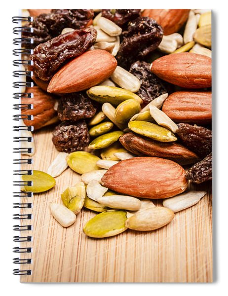 Raw Organic Nuts And Seeds Spiral Notebook