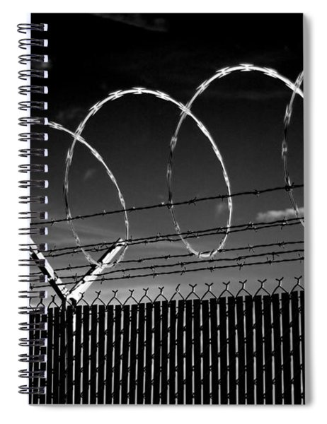 Razor Wire In The Sun Spiral Notebook