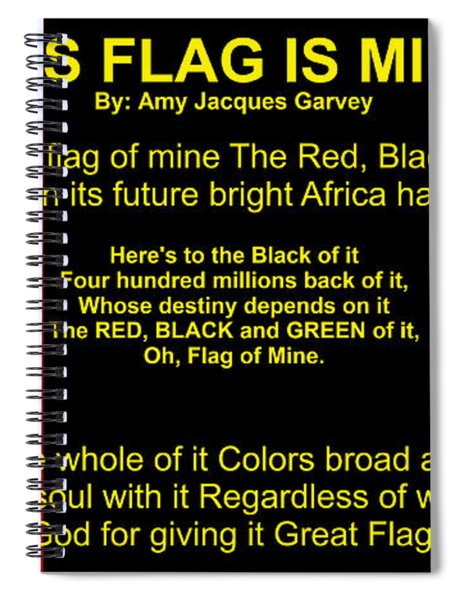 Rbg Flag Pledge By Amy Jacques Garvey Spiral Notebook