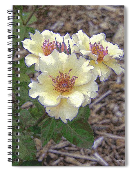 Spiral Notebook featuring the digital art r.'Dairy Maid' 28182p by Brian Gryphon