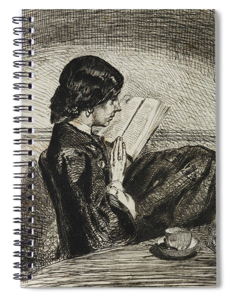 Reading By Lamplight Spiral Notebook