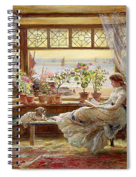 Reading By The Window Spiral Notebook