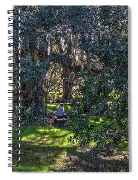 Reading In The Shade Of Live Oaks Spiral Notebook