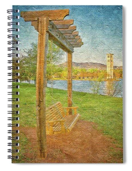 Ready To Swing At Furman, Greenville, South Carolina Spiral Notebook