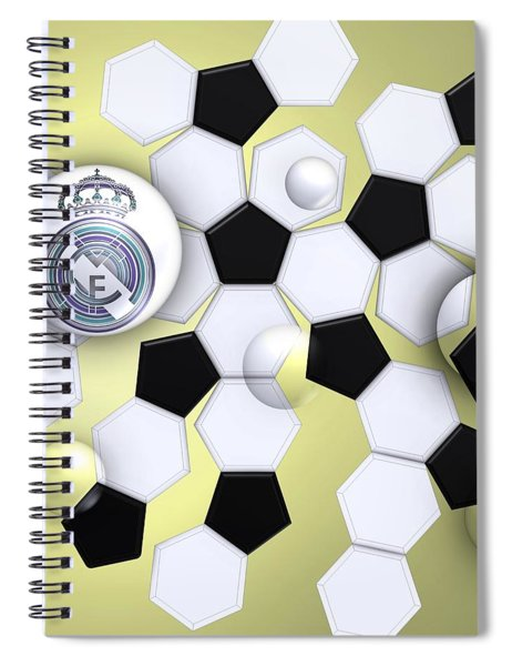 Real Madrid In Football Sky Spiral Notebook