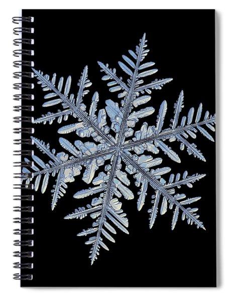 Real Snowflake - Silverware Black Spiral Notebook