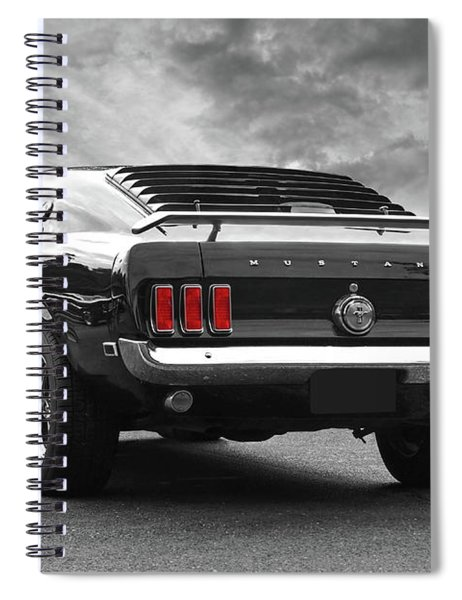 Rear Of The Year - '69 Mustang Spiral Notebook