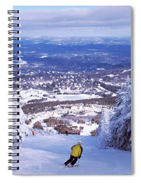 Rear View Of A Person Skiing, Stratton Spiral Notebook