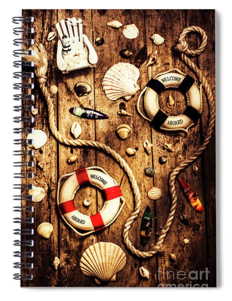 Rearranging The Deck Chairs Spiral Notebook