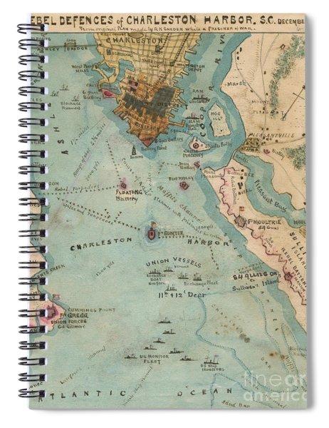 Rebel Defenses Of Charleston Harbor Spiral Notebook