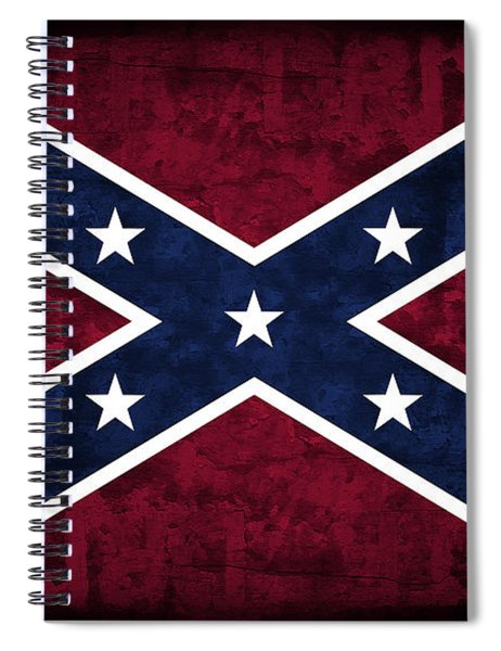 Rebel Flag Spiral Notebook