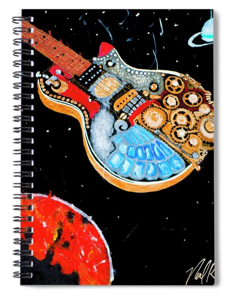 Rebel Guitar Fighter Spiral Notebook