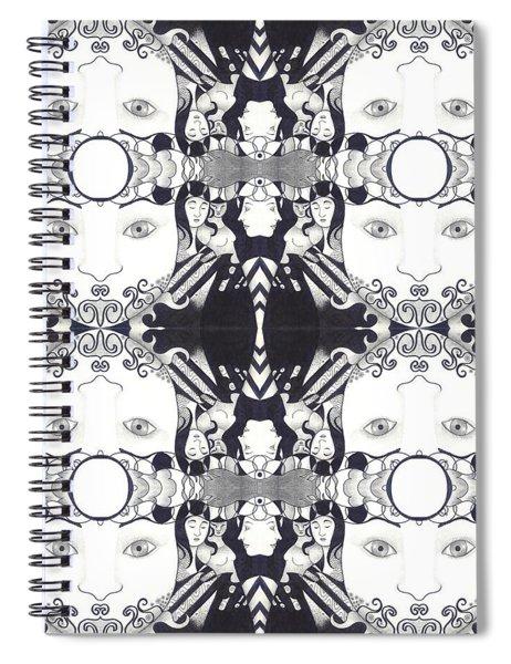 Recalling The Goddess 2 Tile Spiral Notebook