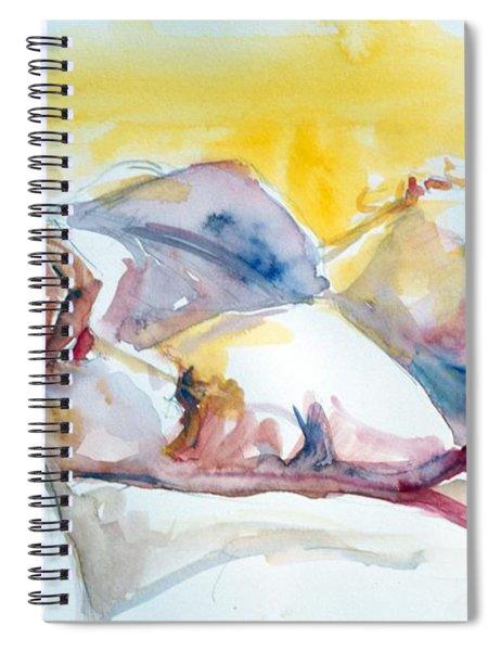 Reclining Study Spiral Notebook