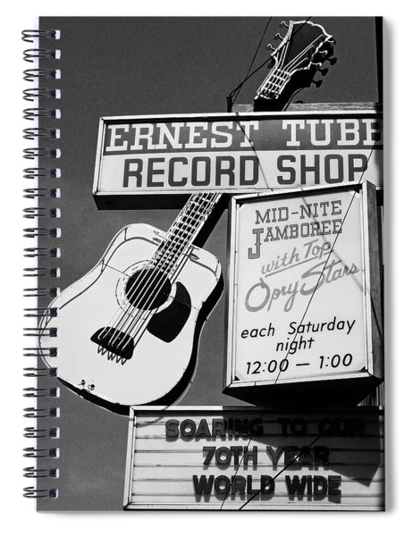 Record Shop- By Linda Woods Spiral Notebook