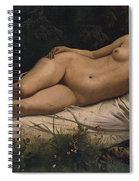 Recumbent Nymph Spiral Notebook