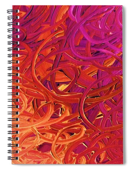 Red Abstract Spiral Notebook