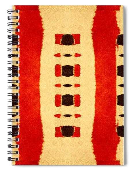 Red And Black Panel Number 1 Spiral Notebook