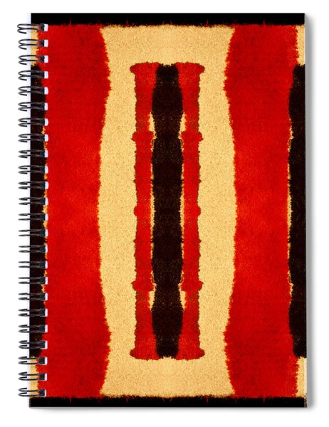 Red And Black Panel Number 2 Spiral Notebook
