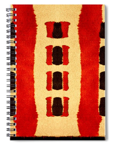 Red And Black Panel Number 3 Spiral Notebook