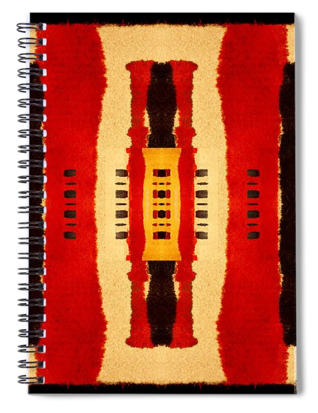 Red And Black Panel Number 4 Spiral Notebook
