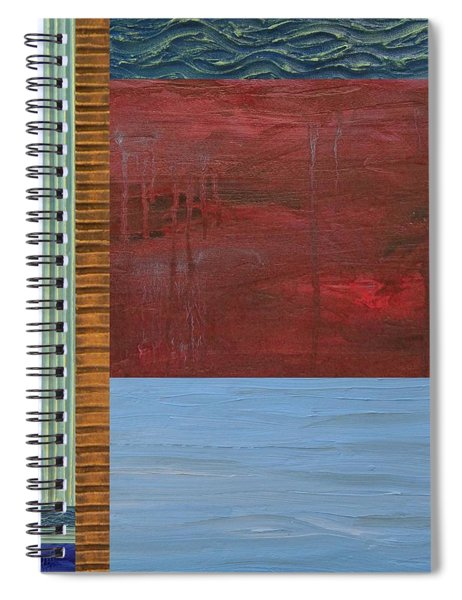 Red And Blue Study Spiral Notebook